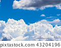 Summer blue sky 43204196