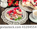 Cheesecake with strawberries, blueberry and jelly 43204554
