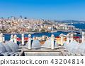 The view over Bosphorus strait, Istanbul, Turkey 43204814
