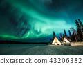 """""""加拿大西北地區""""極光和耶洛奈夫的毛尖 43206382"""