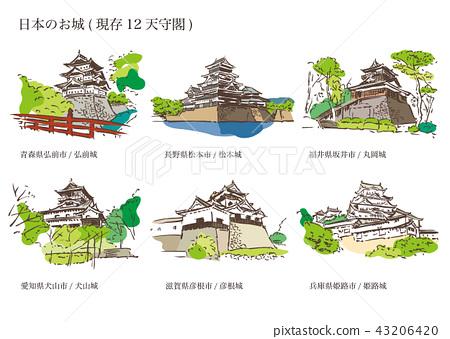 日本城堡(現有12座城堡塔) 43206420