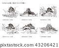 Japanese castle (existing 12 castle tower) 43206421