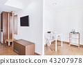 Modern living room decoration built-in furniture 43207978