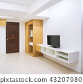 Modern living room apartment decoration built-in 43207980