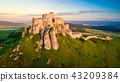 Aerial view of Spissky Castle in Slovakia 43209384