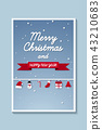 Merry Christmas , picture of winter with ornaments 43210683