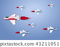 Different concept , Jet plane flying in the sky 43211051