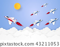 Different concept , Jet plane flying in the sky 43211053