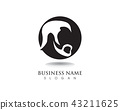 masculine beard black hair geek logo and symbol 43211625
