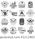 Set of baseball and tennis club badge. Vector illustration. Concept for shirt or logo, print, stamp 43211863