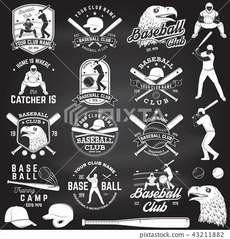 Baseball club badge. Vector illustration. Concept for shirt or logo, print, stamp or tee. 43211882