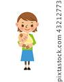 Mom baby baggage 43212773
