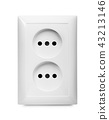 Electrical jack white plastic power socket 43213146