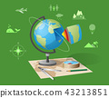 Geography Class Isolated Illustration on Green 43213851
