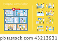 Hospital Constructor Scheme Vector Illustration 43213931