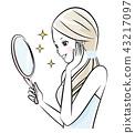 거울을 보는 여자 43217097