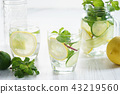 Refreshing summer drink with lemon and mint 43219560
