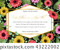 Template vector watercolor floral invitation of  43222002