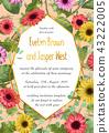 Vector floral illustration of wedding invitation, 43222005