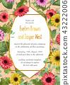 Vector summer floral illustration of wedding  43222006