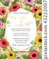 Flower sample of wedding invitation, greeting  43222007