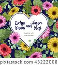 Flower vector heart for wedding invitation, saint  43222008