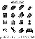 Wood icon set 43222760