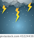 Vector illustration rain with thunderbolt 43224436