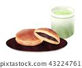 銅鑼燒 綠茶 和果子 43224761