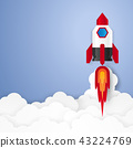 Start up concept , rocket with blank space 43224769