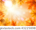 Abstract Vector Illustration Background with Falling Autumn Leaves 43225698