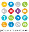 Touchscreen smart phone mobile application Vector 43225933