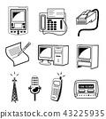 Media & Communication icon vector illustration 43225935