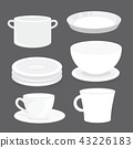 Bowl Dish Plate Cup Tumbler Glass Tray Vector 43226183