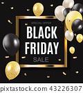Black Friday Sale Inscription Banner Design Template. Vector illustration 43226307