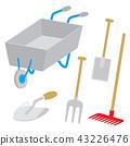 Equipment Tool Garden Rake Fork Hoe Trowel Vector 43226476