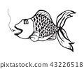 fish icon vector eps10 isolated on white illustrat 43226518