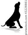 Dog Silhouette Pet Animal 43226661