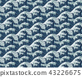 Wave Seamless Pattern Print 43226675