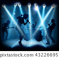 Band Music Concert Stage Silhouettes 43226695