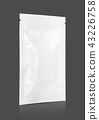 blank packaging snack pouch isolated on gray 43226758
