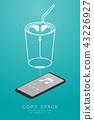Smartphone black color and Earphones wireless 43226927