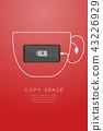 Smartphone black color flat design, coffee cup 43226929