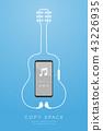 Smartphone black color and Earphones wireless 43226935