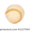 Baseball isolated on white background 43227094