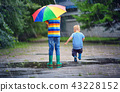 children, kid, rain 43228152