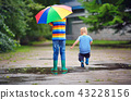 children, kid, rain 43228156