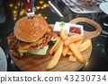 cheese burger or pork burger 43230734