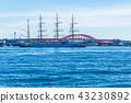 고베항에 입항 선박 연습선, 닛폰 마루. 43230892