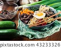 Bibimbap - rice with beef and vegetables 43233326
